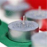 Tealight Kerze mit grauem Schnee