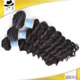 熱い販売の標準厚手100%のブラジル人の毛のよこ糸