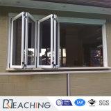 Preiswertes Aluminiumfaltendes Glasfenster 2017 mit thermischem Bruch