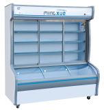 1020L arca congeladora Vertical com vidro temperado para alimentos e bebidas de frutas