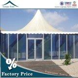 長い宴会表の座席が付いているアルミニウムフレームのゆとりの屋外のテント
