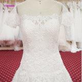 Fertigung-Entwurfs-Kurzschluss Sleeves Spitze-Brautkleid eine Zeile Hochzeits-Kleid