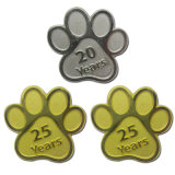 Kundenspezifische Metallhundetatze-Funkeln-Haustier Identifikation-Marken