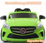 El verde de dos asientos para niños juguetes niños 12V de coche eléctrico