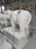 Escultura animal de pedra da alta qualidade que cinzela grandes estátuas do elefante
