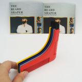 ブラシが付いている最新のデザインひげの櫛の顔の毛の形成ツール