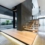 Escalier droit de flottement en bois solide de chêne blanc d'Europear
