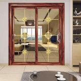 内部アルミニウムプロフィールの倍のガラス引き戸か外部のパネル・ドア