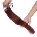 卸売価格の倍によって引かれる赤いカラー20インチのマイクロループ人間の毛髪