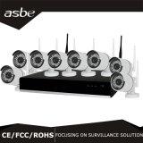 cámara sin hilos del IP del CCTV WiFi del punto negro del kit del sistema de seguridad NVR de 1080P 8CH