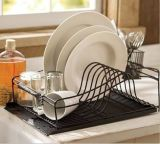 Ustensiles de cuisine plat Deying rack avec carte de vidange