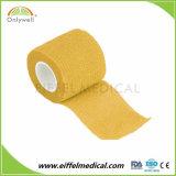 Veterinário da pele à prova de auto-adesivos coloridos de alta coesa bandagem elástica