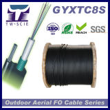 Precio autosuficiente aéreo del cable óptico de fibra de la chaqueta del PE Figure8 (GYXTC8S)