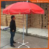 L'extérieur de la publicité personnalisée Jardin parasol de plage télescopique