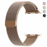 Loop Milanese suave de malha de aço inoxidável completamente fecho magnético banda de substituição para Apple assistir
