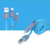 Fideos Canasta de 1m 2 en 1 cable de datos de carga USB