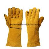 Cuir de protection résistant aux cendres Soudage de travail Gants de protection à la main