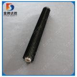 Rouleau industriel perforé de balai de cylindre de filament en nylon réglé d'agrafe