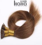 Novos Produtos de cabelo liso cor castanha de 20 polegadas da onda I Cabelo da ponta