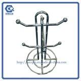 Kundenspezifische hängende Metallcup-Bildschirmanzeige-Tischplattenzahnstange