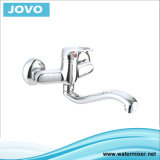 La porcelaine sanitaire à poignée simple robinet mélangeur de cuisine&JV73605