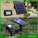 L'installation bi-directionnelle 20 DEL imperméabilisent la lumière solaire populaire de jardin d'éclairage avec à télécommande