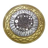 Kundenspezifische Qualitäts-Goldmetallgroßhandelsmünze/Medaille (YB-HR-34)