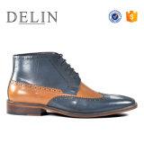 Luxe Delin nouvelle chaussure formelle d'amorçage en cuir véritable