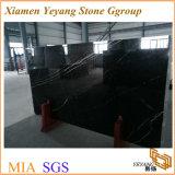 China Nero Marquina losa de mármol, pisos de mármol negro mosaico/escalera/