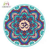 Циновка йоги красивейшего Mandala Om печати профессиональная круглая для взрослого и малышей