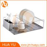 Шкаф тарелки провода покрынный кромом с чашкой Cutlery нержавеющей стали и доской стока