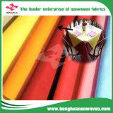 Non-Woven colorido 100% de Polyprolylene Spunbond para Tablecolth con el SGS