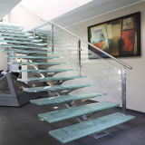 Le verre trempé à l'intérieur de haute qualité pour l'escalier rectiligne
