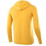 Moda Casual personalizadas dos homens Amarelo manga longa&Preto Blusa com capuz de bolso