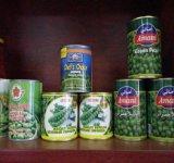 Cultivo fresco de excelente calidad, las conservas de arvejas verdes
