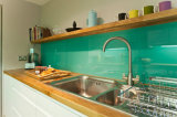 10mm Superior Clear Glass Red Tinted Kitchen Splashback
