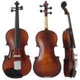 Предварительные скрипки с темной желтого отделкой Brown и штейна
