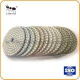 80mm 대리석과 화강암을%s 백색 수지 다이아몬드 닦는 패드