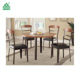Projeto novo que janta a tabela e as cadeiras de madeira de jantar da mobília