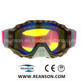 Grande Vision Lentille Ranbow tous au cours de l'impression Windproof Lunettes de neige de ski