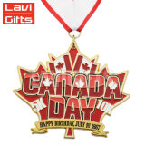 Cheap Custom Metal Canada logo 3D Award sport Medals with Ribbon