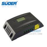 Suoer 12V 24V 30um controlador de carga Solar Portátil PWM Controlador Solar (ST-L1230)
