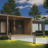 Quadratische Rasen-Aluminiumlampe, LED-moderne einfache Garten-Lichter