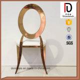 Нержавеющая сталь круглой задней части золота Rose обедая стул
