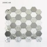 Strato del cristallo delle mattonelle di mosaico dell'argento dello specchio di Backsplash della parete della stanza da bagno di esagono