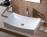 Санитарные продовольственный керамического искусства раковина для ванной комнаты (1127)