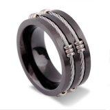 Los hombres de Regalo de imitación Bisutería Joyería anillo de acero inoxidable