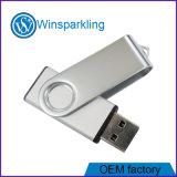 Mecanismo impulsor promocional de encargo del flash del USB del eslabón giratorio de fundición