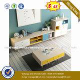 Verre aluminium moderne Partition/station de travail de bureau en bois (HX-8N0680)