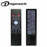 Mini van de Muis van het Toetsenbord van Bluetooth Backlit Witte T6 voor de Androïde Doos Remotewith 2.4GHz rf van TV